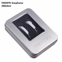 Cheap price YMHFPJ HIFI In Ear Earphone Dynamic 300Ohm/150ohm diy earphone Bass Sound Music Headset Earbuds DJ Universal For phone