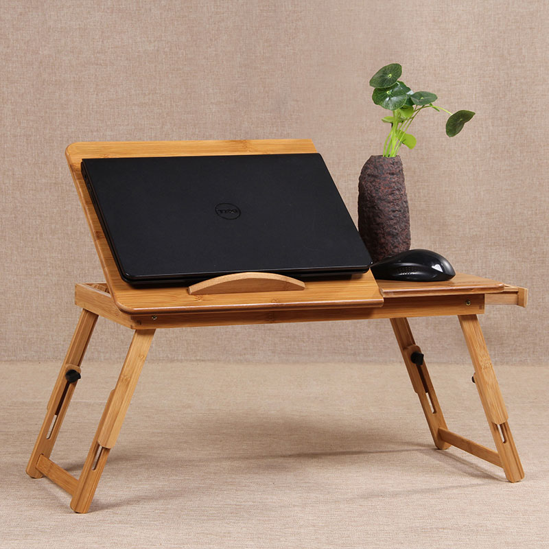 Laptop Stand Bamboo Computer Desk Support Ordinateur Portable Furniture For Sofa Bed Office Tafelkleed Dnz003 In Desks From On