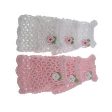 Миниатюрные розовые вязаные крючком цветы миди для детского