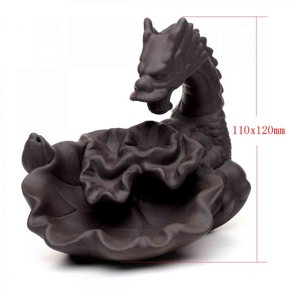 Ceramic Backflow Incense Burner Traditional Chinese Creative Home Decor Smoke Waterfall Dragon Incense Holder 10pcs Incense Cone in Incense Incense Burners from Home Garden