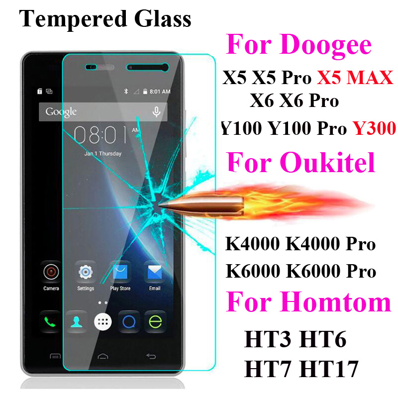 Screen Protector Film Tempered Glass For DOOGEE X5 Max X6 Pro T6 Oukitel K6000 K10000 Homtom Ht3 Ht6 Ht7 Pro Ht17 S60 Mix X20Screen Protector Film Tempered Glass For DOOGEE X5 Max X6 Pro T6 Oukitel K6000 K10000 Homtom Ht3 Ht6 Ht7 Pro Ht17 S60 Mix X20