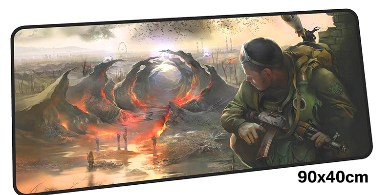 stalker mousepad gamer 900x400X3MM gaming mouse pad large HD pattern notebook pc accessories laptop padmouse ergonomic mat