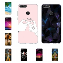 For Huawei P smart Case Soft TPU Silicone Enjoy 7S FIG-LX1 FIG-LA1 Cover Paris Tower Pattern Smart Funda