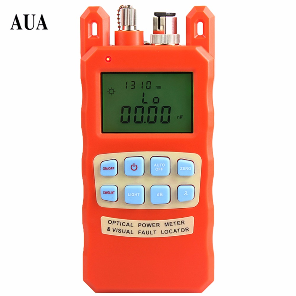 AUA-70AC All-IN-ONE Fiber optical power meter -70 to +10dBm and 10mw 10KM Fiber Optic Cable Tester Visual Fault Locator