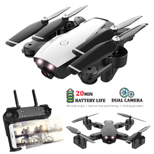 HY107 Drones With Camera Wide-Angle HD Dual Dron WIFI FPV Altitude Hold Follow Me Foldable RC Quadcopter