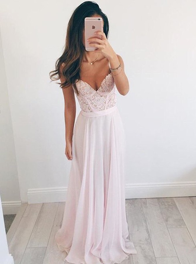 Bbonlinedress New Arrival Evening Dress 2019 Sweetheart Prom Dress Chiffon Beading Party Dress Elegant Evening Gowns in Evening Dresses from Weddings Events
