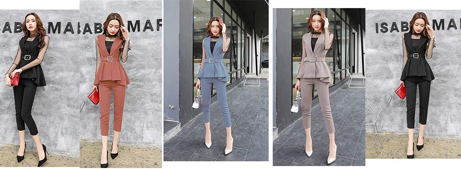8413d28c73dc ... ufficio OL delle donne abiti blazer set 2017 nuovo arrivo più il  formato 4XL Nero di affari vestiti di pannello esterno.  aeProduct.getSubject(). marca ...