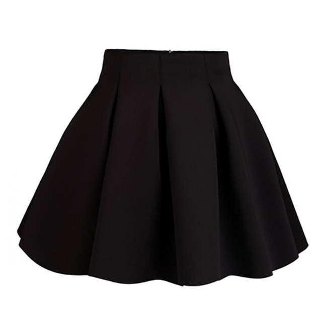 New Arrival Autumn Winter Women Skirt Casual High Waist Plus Size Pleated  Skirts with Short Pants Size XS-XXL Free Shipping e09b26971a3c