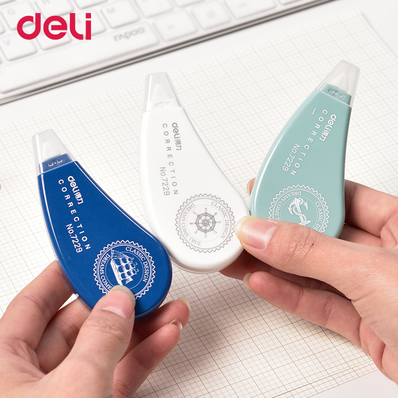 Deli Simple Colorful Fashion Plastic Correction Tape 8M*5mm Creative School Office Stationary Supplies Kids Gifts Wholesale