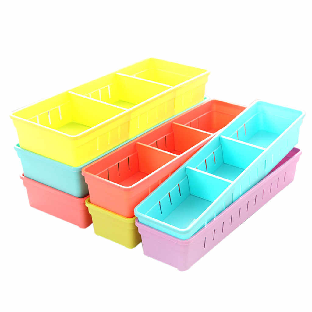 Adjustable Drawer Kitchen Cutlery Divider Case Makeup Storage Box Home Organizer Products Storage Rack Container Makeup Boxes
