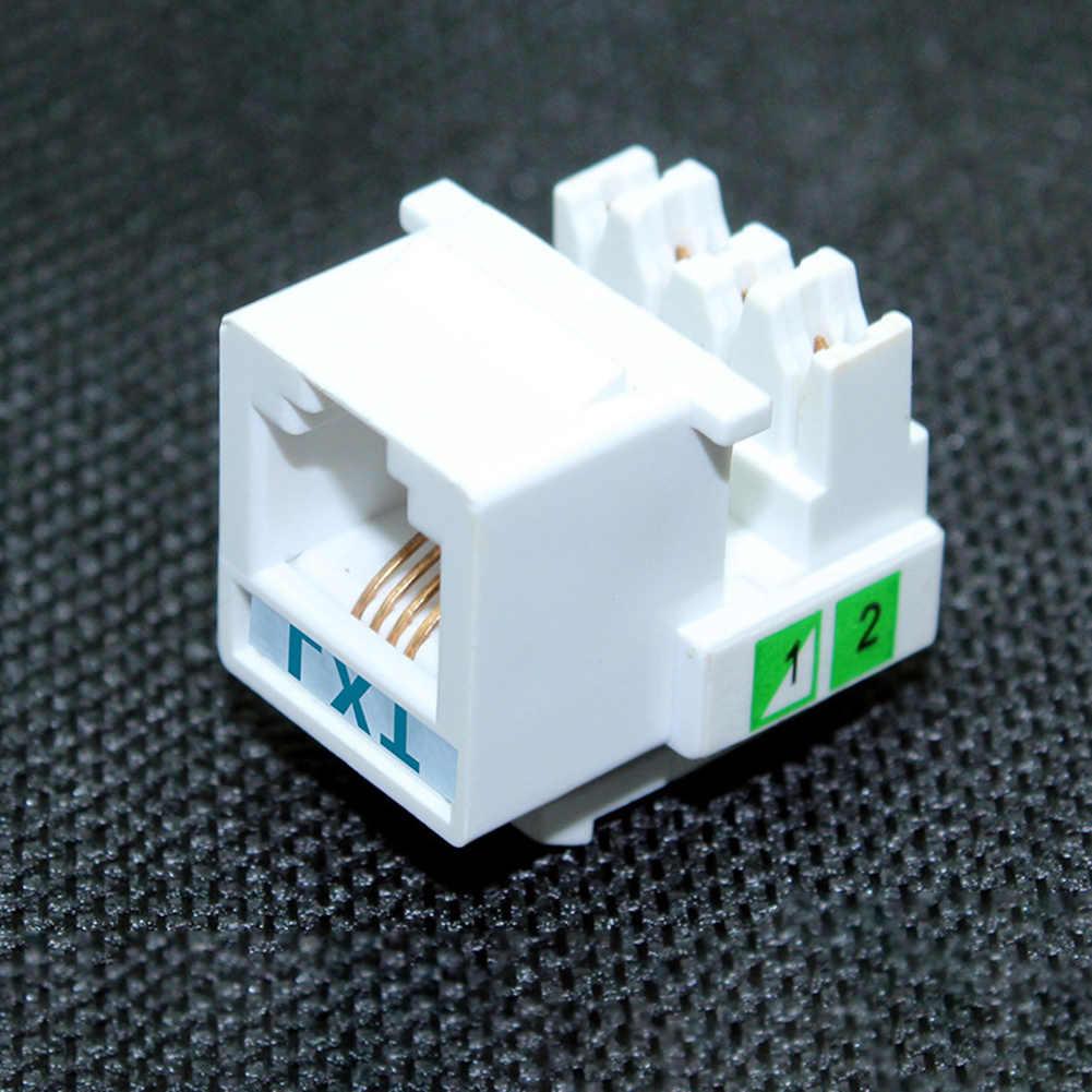 Cat3 RJ11 電話回線カップル挿入モジュール電話音声キーストーンジャックソケットケーブルアダプタテレコム音声ホット販売