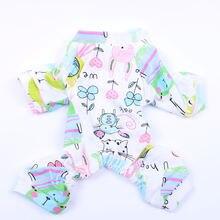 Пижама для маленьких собак кошек комбинезоны с цветочным принтом