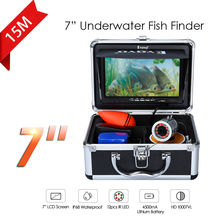 Eyoyo 7″Shade Fish Monitor 15m Skilled Fish Finder Underwater Ice Fishing Digital camera 1000TVL HD Silver Cam Infrared For Fishing