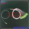 1x16 Puertos SC/APC Mini PLC Splitter, accesorios Para GPON OLT FTTH con conectores SM G657A1