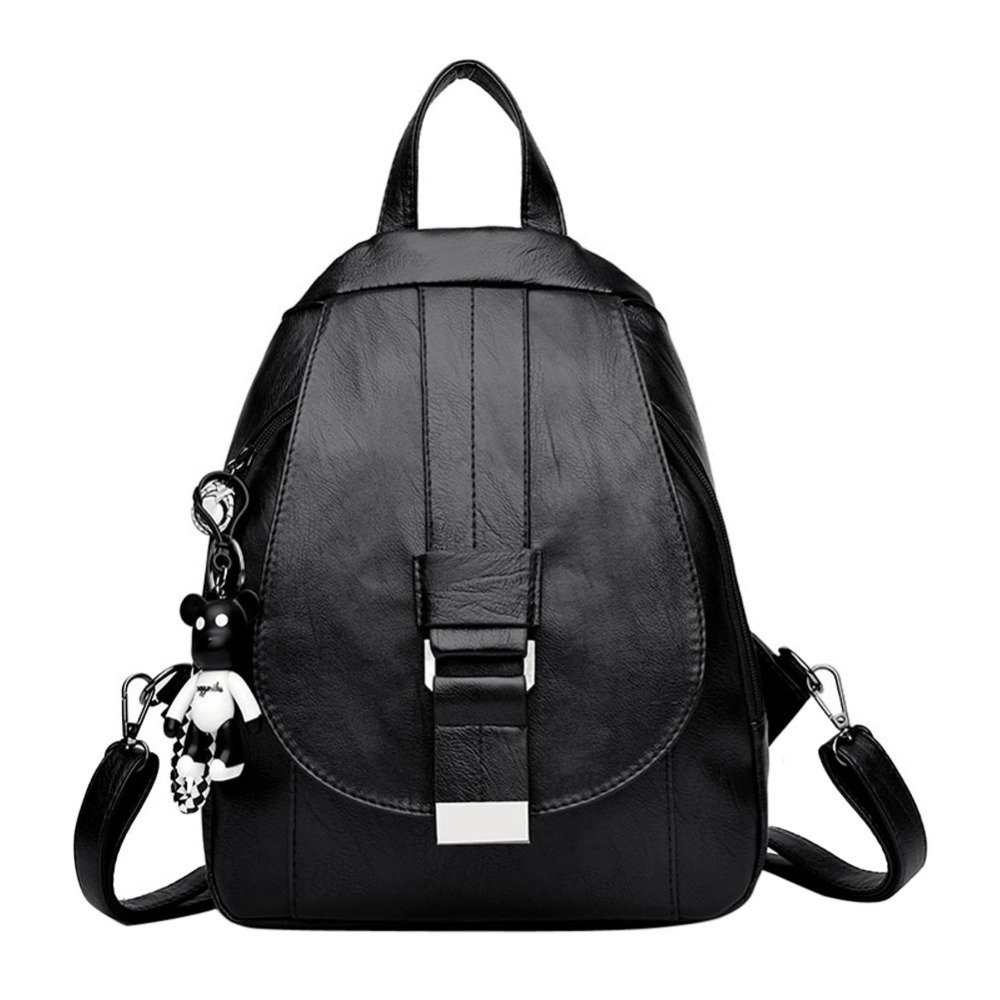 Detail Feedback Questions about Women Leather Backpack Female Fashion Bag  Ladies Softback Character Embossing Backpacks for Teenage Girls Zipper  Daypack on ... 99c17e2ded02e