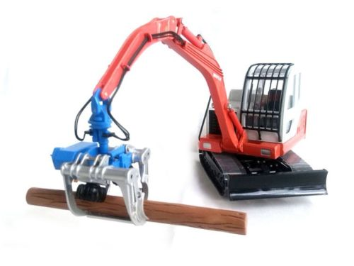 CT-500 1:32 A small excavator woodcutter model Alloy engineering car model Collection model