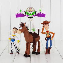 Toy Story 3 Buzz Lightyear Woody Jessie PVC Action Figures Toys Dolls Child Toys 4Pcs/Lot