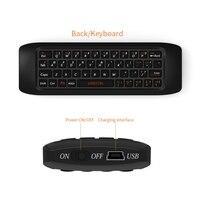2,4G Air Mäuse Raspberry pi 3 Drahtlose Tastatur fernbedienung Lernen tastatur Combo für Android TV Box Computer teclado