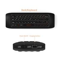 Raspberry pi 3 Teclado Sem Fio 2.4G Fly Air Mouse Combo teclado de Aprendizagem de controle Remoto para Android TV Box Computer teclado