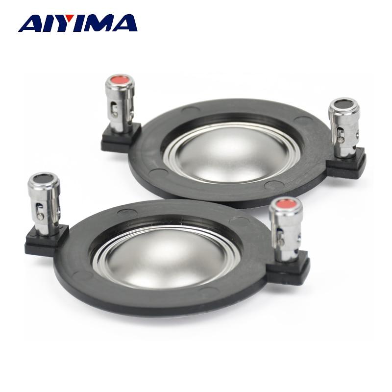 AIYIMA 2Pcs 34.4MM Treble Voice Coil Titanium Film Tweeter Voice Coil Audio Speaker Accessories DIY