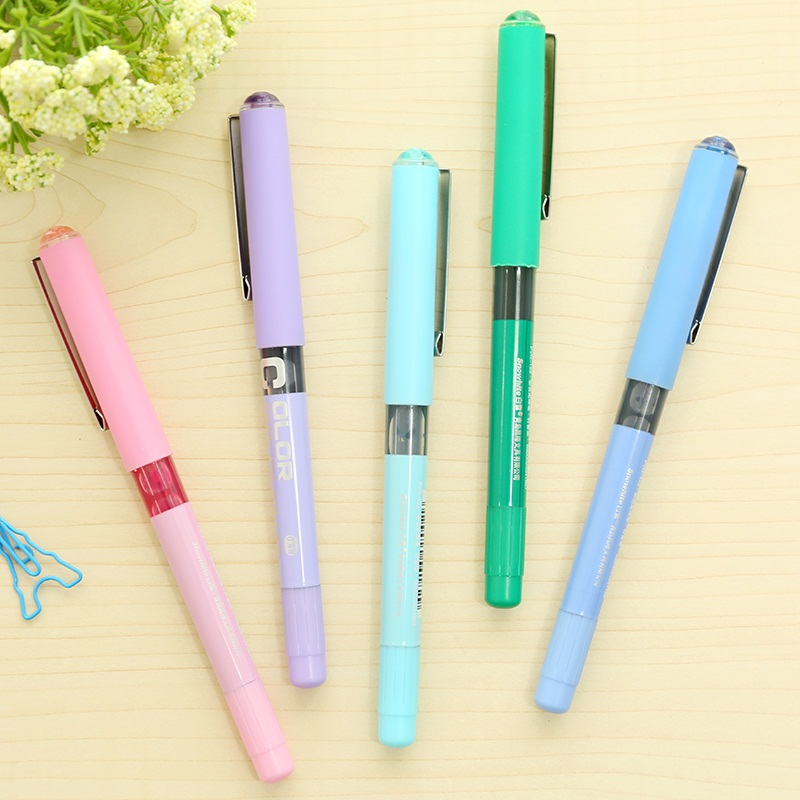 Free shipping 0.38mm fine nib Roller tip pens student colorful Water based ball pens NEEDLE TIP pen school supplies