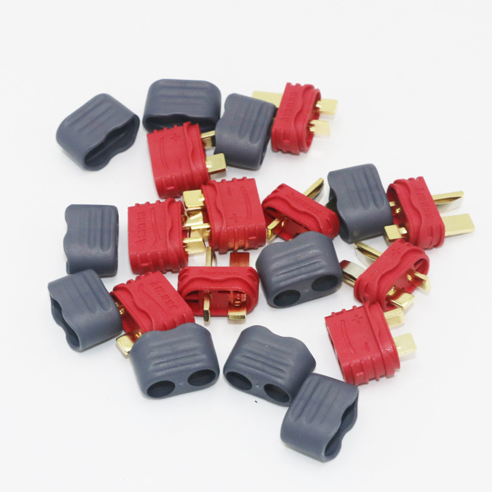 Register shipping 50pairs lot Amass T Plug Deans Connector With Sheath Housing For RC Lipo Battery