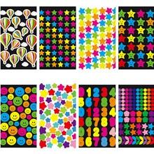 1 шт разные стильные цветные геометрические фигуры Мини бумажные украшения DIY дневник в стиле Скрапбукинг студенческие принадлежности стикер для канцелярских товаров