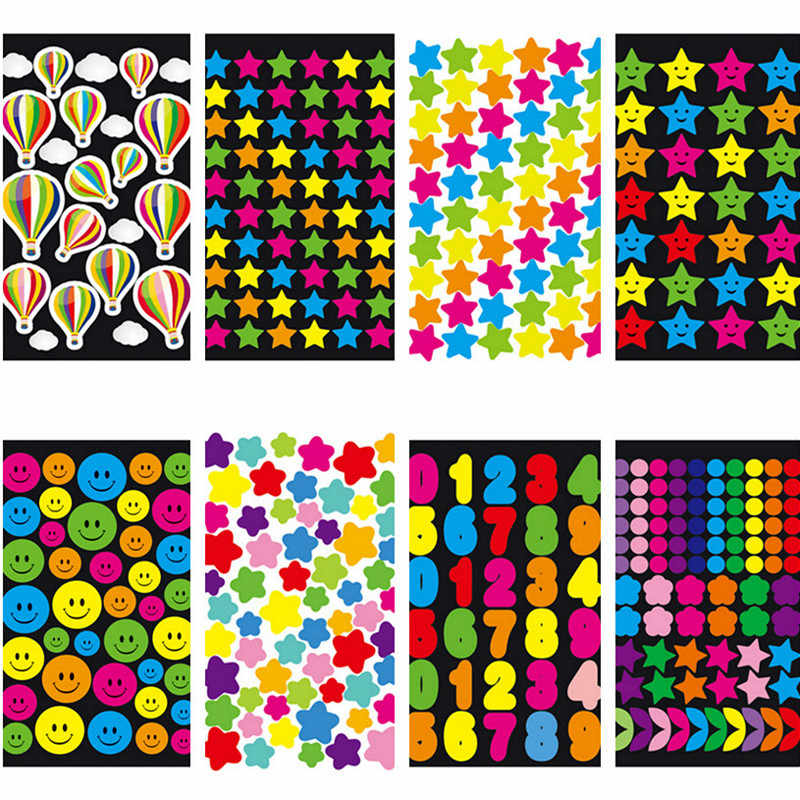 1 Pcs Stile Differente di Colore Figura Geometrica Mini Decorazione di Carta Fai da Te Diario Scrapbooking Studente Forniture di Cancelleria Sticker