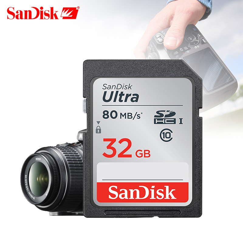 Image 3 - SanDisk Ultra 32GB 16GB 64GB Class 10 SD SDHC SDXC Memory Card in SD card 128GB 80MB/s for Camera Support Official Verification-in Memory Cards from Computer & Office