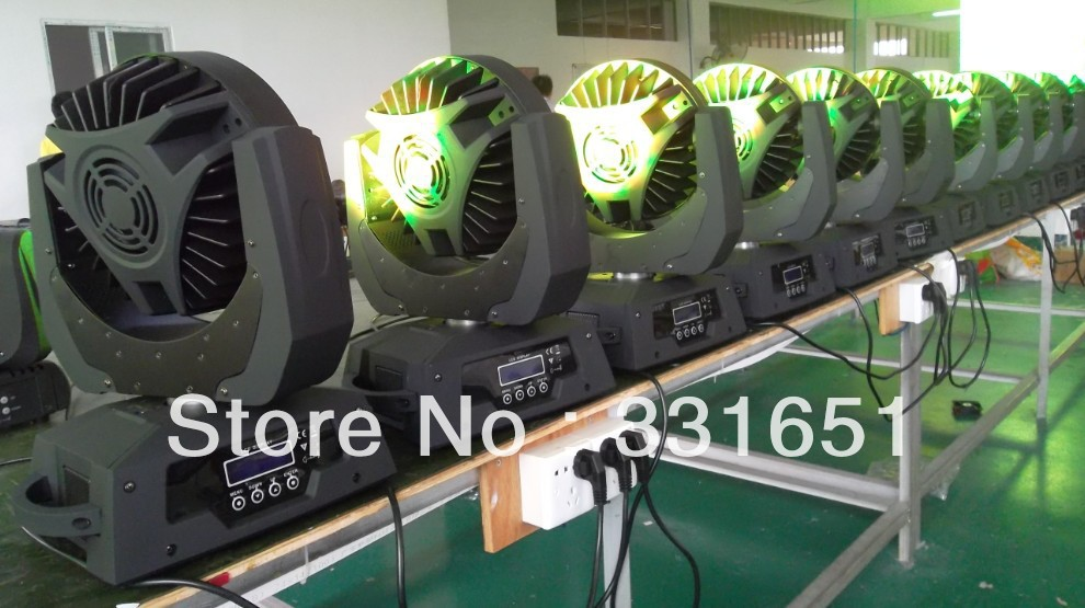 4 pieces/lot Edison LED rgbw 108x3w moving light/led 108 Edison LEDs wash moving head light freeshipping 2xlot 108 3w rgbw wash led moving head light 24 red 28 green 28 blue 28 white edison led 3w free clamp safety wire