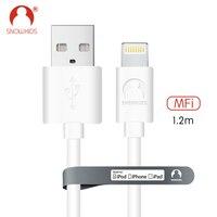 Snowkids кабель MFi 2 шт./партия для iPhone X Xs XR XsMax 8 7 6 5 Синхронизация данных зарядное устройство кабель системы освещения USB совместимый iOS12