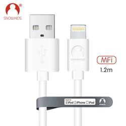 Snowkids MFi câble 2 pcs/lot pour iPhone X Xs XR XsMax 8 7 6 5 câble chargeur de synchronisation de données pour Lightning vers USB Compatible iOS12