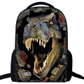 Mochila vintage canvas 3D Cartoon printing backpack men dinosaur women backpacks Bag Travel Backpack school bags for teenagers