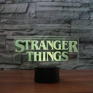 Image 4 - 7 Colors Changing 3D Acrylic Led Luminous Stranger Shape Table Lamp Office Home Decor Child Movie Bedside Sleep Night Light Gift
