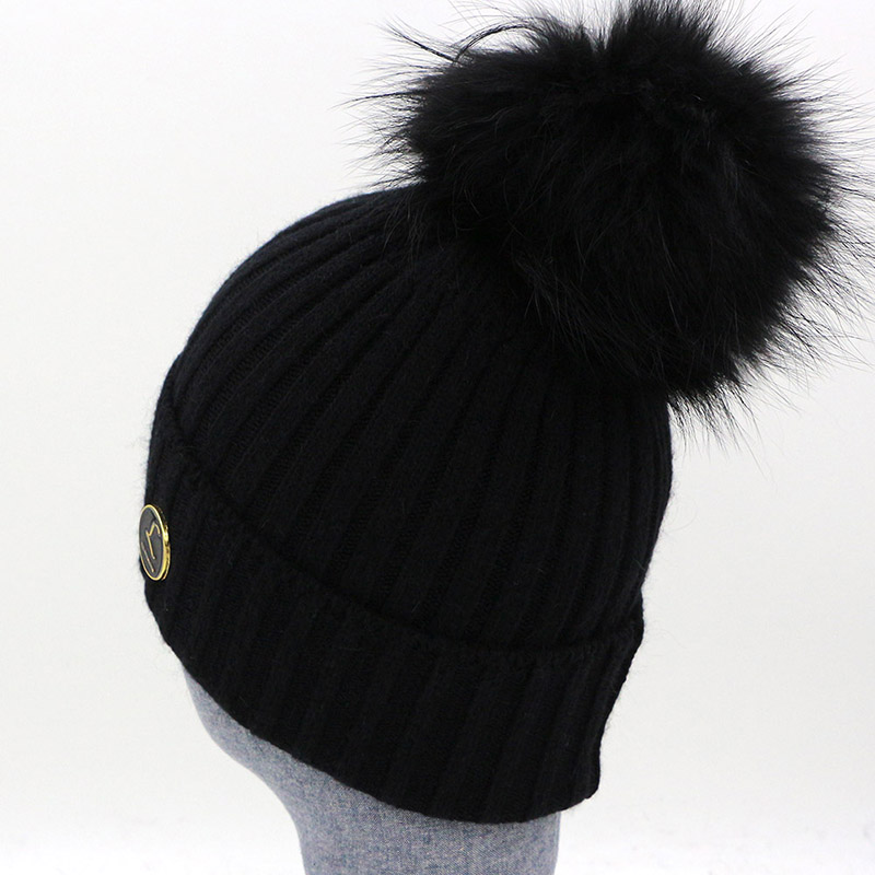 New Design Brand Real Fur Pom Pom Women Mens Knitted Beanie Winter Hats  Warm Soft 100 Wool Womens Girls Gorros Caps Fur Bobble-in Skullies   Beanies  from ... 0596e20dcb28