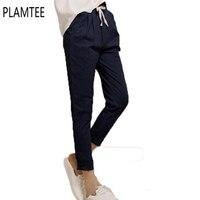 En Été 2017 Linge De Mode Haren Neuf Élastique Taille Pantalon Tout-Allumette Lâche Pantalon de Bonbons Colorés Femmes Casual Pantalon Pantalon