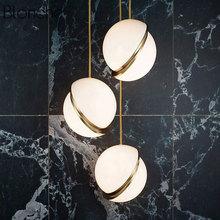 Modern Nordic Round Ball Pendant Lights Led Moon Suspension Hanging Lamp for Living Room Dining Droplight Loft Home Decor