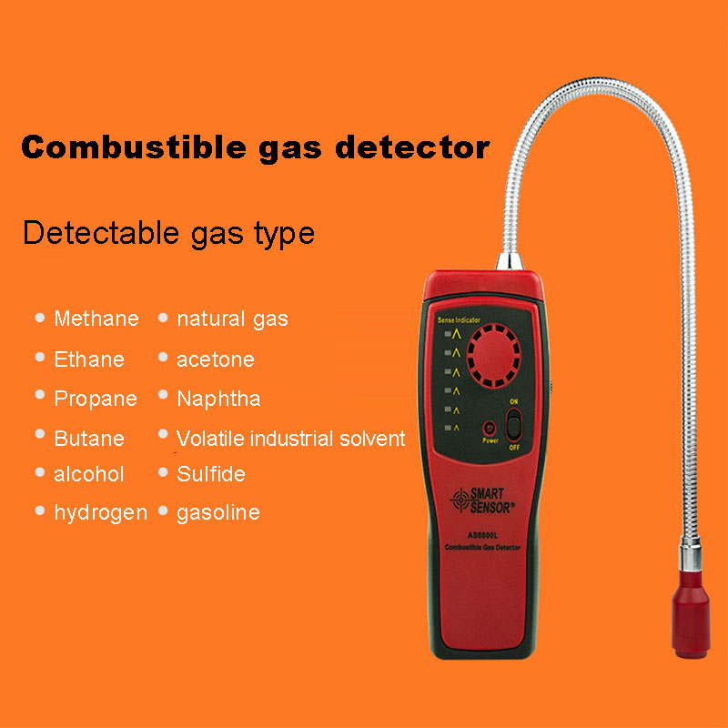 High Quality Combustible Gas Leak Sound Light Alarm Detector Port Flammable Leakage Location Tester Home Safety Equipment