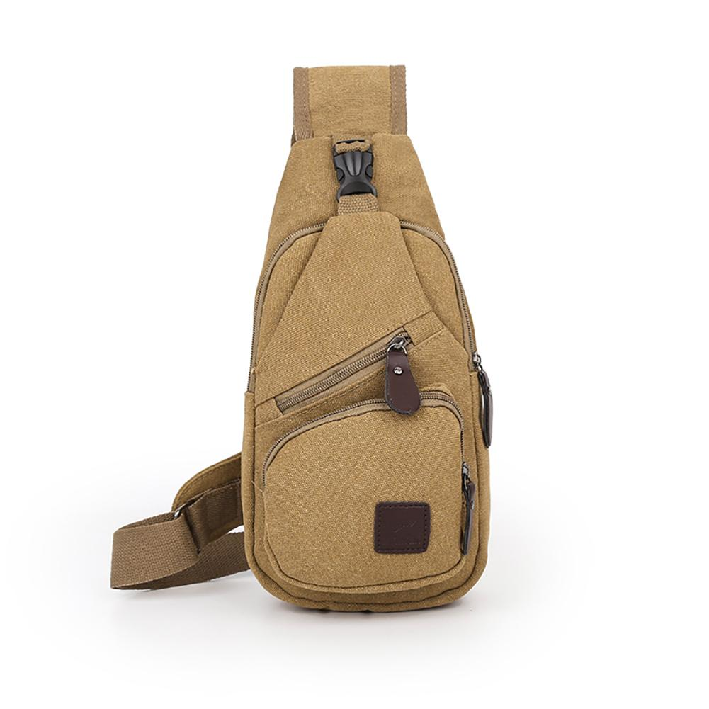 Fashion Cool Men Chest Bag Canvas Travel Shopping Sport Shoulder Sling Pack