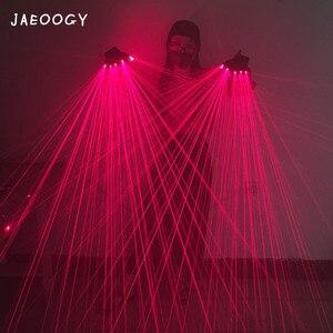 Image 4 - قفازات عالية الجودة من الليزر الأحمر ، أشرطة النوادي الليلية ، مستلزمات المسرح ، تجهيزات الفلورسنت الموسيقية ، قفازات المهرجان المضيء LED