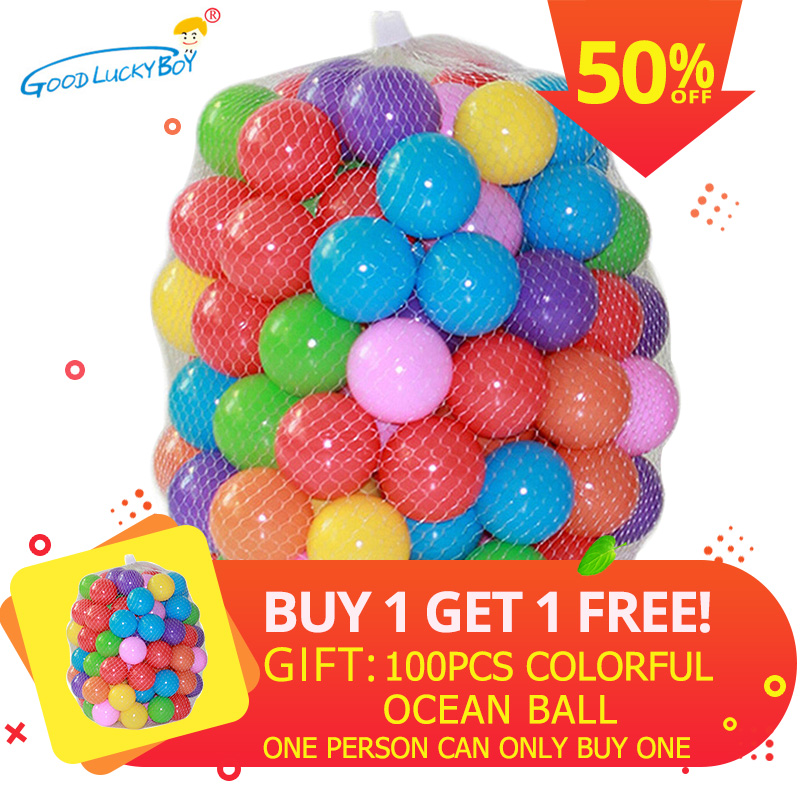 Eco-Friendly Colorful Soft Ball Plastic Water Pool Ocean Wave Ball Baby Funny Toys Stress Air Ball Outdoor Fun Sports 100pcs/lot