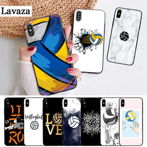 I love Volleyball Printing Silicone Case for iPhone 5 5S 6 6S Plus 7 8 11 Pro X XS Max XR(China)