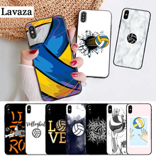 Lavaza I love Volleyball Printing Silicone Case for iPhone 5 5S 6 6S Plus 7 8 11 Pro X XS Max XR