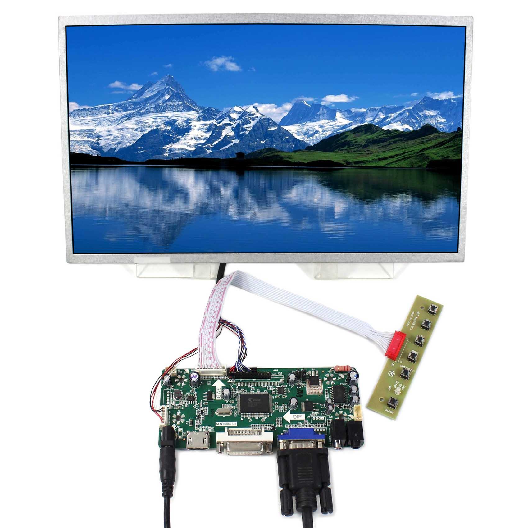 HDMI VGA DVI Control board 13.3inch 1366x768 N133B6 LP133WH1 LTN133AT17 LCD free shipping n133b6 l02 ltn133at17 lp133wh1 tla1 b133xw02 for hp cq32 cq35 cq36 cq325 lenovo z360 g360 cq35 laptop lcd screen