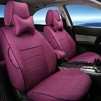 Linen Cloth Cover Seat For Ford Explorer Car Seat Cover Set Full Set Custom Car Seats