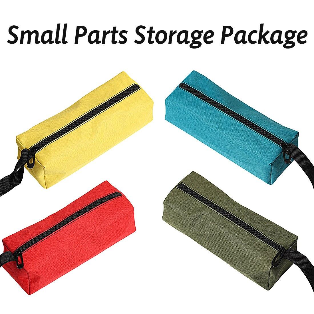 Waterproof Oxford Cloth Fishing Travel Hand Tool Bag Storage Metal PartsScrews Nails Drill Bit Makeup Organizer Pouch Bag Case