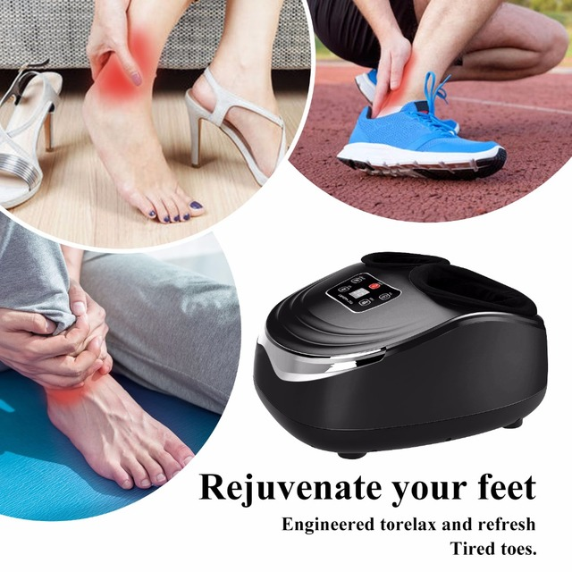 Jinkairui EU Plug Electric Antistress Foot Massager Vibrator Massage Machine Infrared Heating Therapy Health Care Device 4