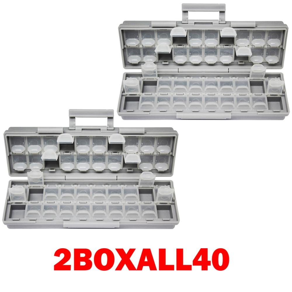 AideTek 2 корпуса поверхностного монтажа резистор конденсатор Электроника хранения ящики и органайзеры 0805 0603 пластиковые инструменты коробка 2 коробки - Цвет: 2BOXALL40