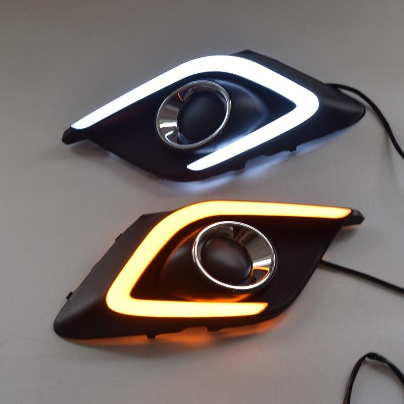Car Styling Fog Lamp for Mazda 3 Axela LED DRL Daytime Running Light Super Bright White