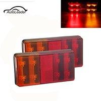 1 Pair 12V 92LED Car Rear Tail Lights Left Right Reverse Lamp 5 Function For Trailer